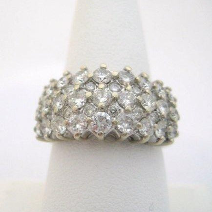 3 Carats of Diamonds on Wide Band