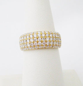 5 Row Diamond Pave Band