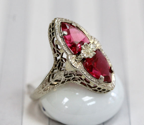 Vintage & Colorful ~ Synthetic Stone Ring