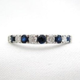 Alternating Sapphire and Diamond Band