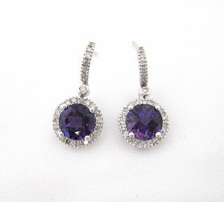 Amethyst Small Hoop Earrings