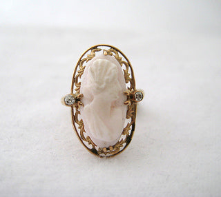 Angel Skin Cameo Ring