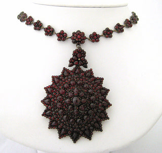 Antique 3 Piece Garnet Neckpiece