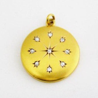 Antique 9 Diamond, .40 ct tw, Locket