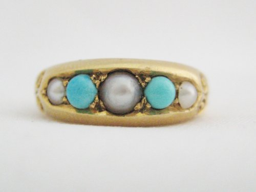 Pearl and Turquoise Ring