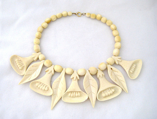 Antique Carved Ivory Neckpiece