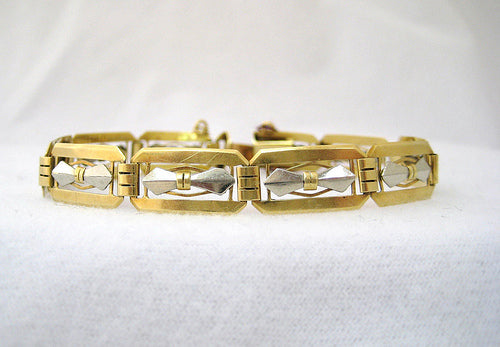 Art Deco Two Toned Gold Bracelet