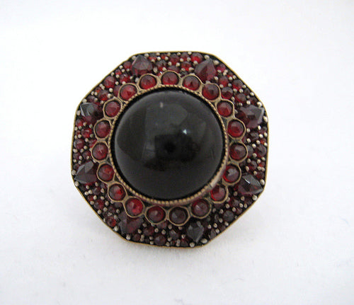 Art Deco Garnet Pin