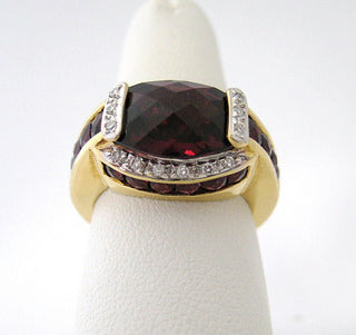 Bellarri Rhodolite Garnet Ring with Diamonds