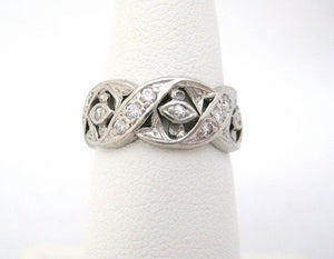 Braided Platinum and Diamond Eternity Band