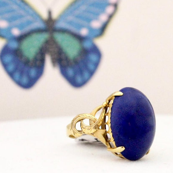 Colorful Vintage Lapis Ring