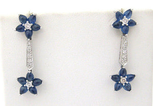 Cabochon Sapphire and Diamond Drop Earrings