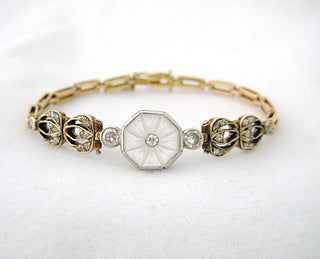 Center Crystal with Diamonds Bracelet