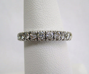 Classic Prong Set Diamond Eternity Band
