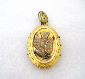 Victorian Bird Motif Locket