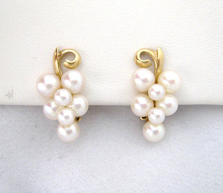 Cluster of Cultured Pearl Earrings