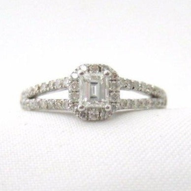 Emerald Cut Diamond Center Ring