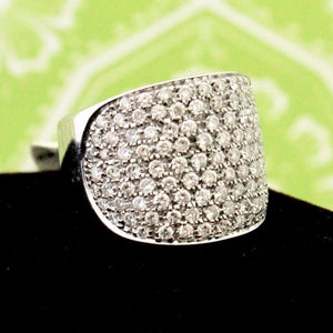 Eye-Catching Pave Diamond Ring, 18K