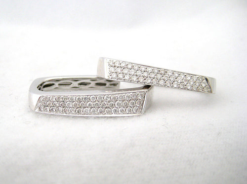 Pave Hoop Style Earrings