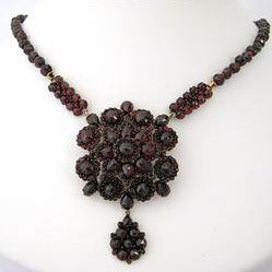 Czechoslovakian Garnet Necklace