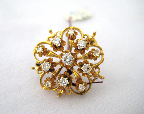 Diamond and Gold Pin