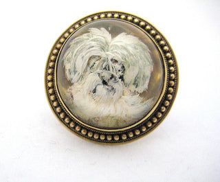 Maltese Cook's Crystal Pin