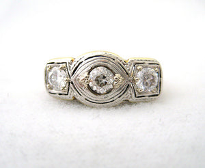 Three Diamond Ring with Nice Detail