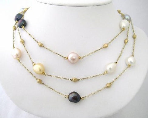 Multi Colored Baroque Fresh Water Pearls