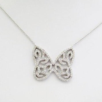 Open Butterfly Diamond Pendant