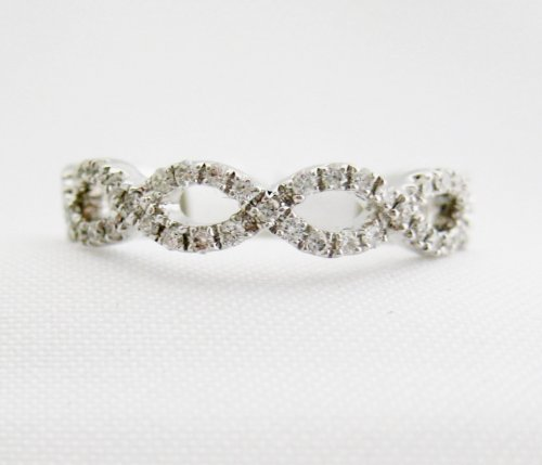 Open Weave Diamond Eternity Band