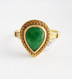 Pear Shaped Jade Ring