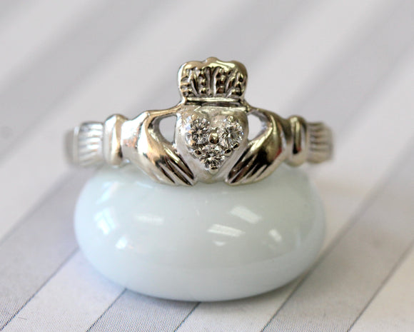 Diamond Claddagh Ring ~ Charming