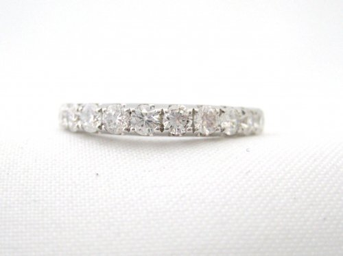 Perfect Wedding Band with 11 Diamonds