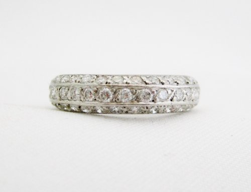 Platinum 3 sided Diamond Eternity Band