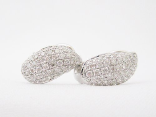 Diamond Pave Huggie Style Earrings
