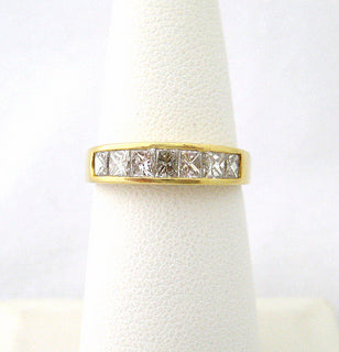 Seven Square Cut Diamond Band