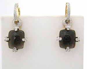 Smoky Quartz with Diamond Detail Earrings