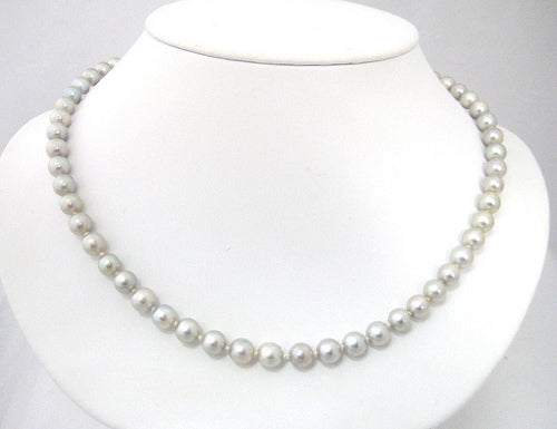 Strand of Grey 6.5-7mm Pearls