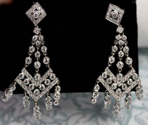 Magnificent ~ Diamond Drop Earrings
