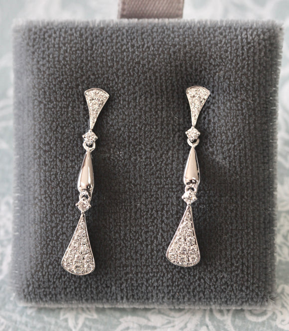 Stylish ~ Diamond Drop Earrings