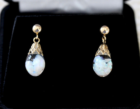 Charming ~ Floating Opal Earrings
