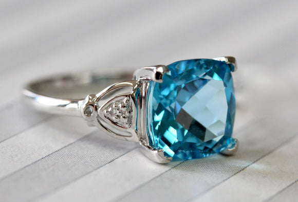 Sparkling ~ Blue Topaz Ring