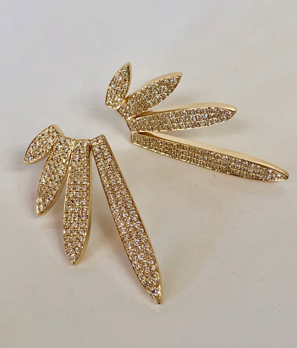 Four Leaf Diamond Earrings