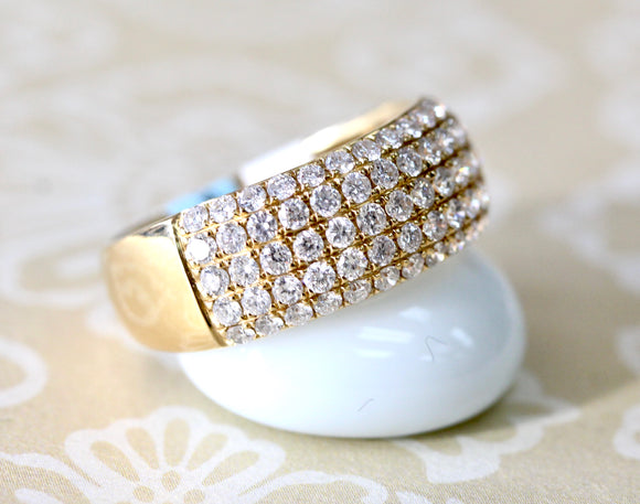 Stunning ~ 5 Row Diamond Pave Band