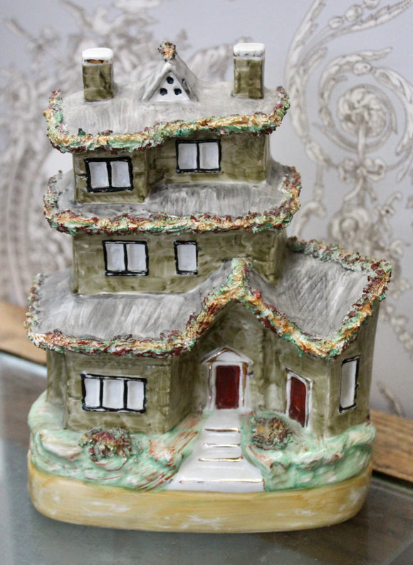 Whimsical ~ Vintage Cottage House Money Box