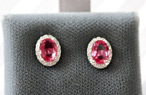 Pretty ~ Pink Sapphire & Diamond Earrings