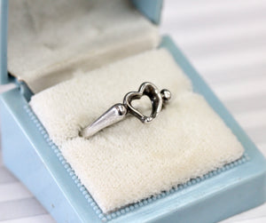"Lovable ~ Tiffany ""Elsa Peretti"" Open Heart Ring"