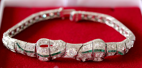 Exquisite  ~ Vintage Platinum Diamond Bracelet