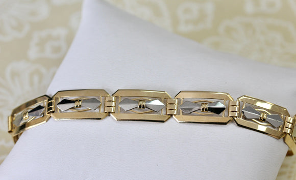 Art Deco ~ Two Toned Gold Bracelet