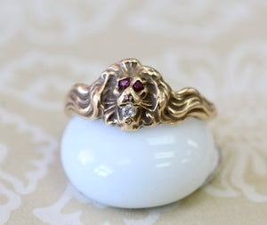 Antique ~ Lion Ring